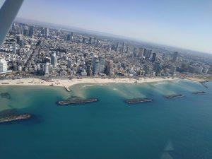 טיול במסוק לאורך חופי תל אביב